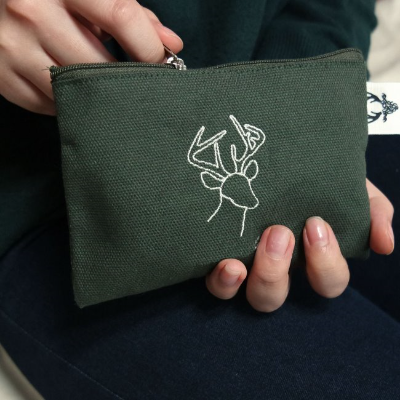 Khaki Deer Card case
