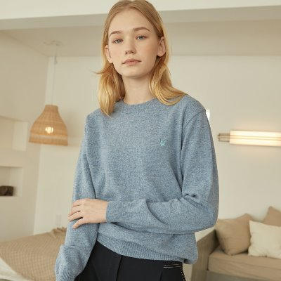 Cashmere wool-blended Knit_ Blue